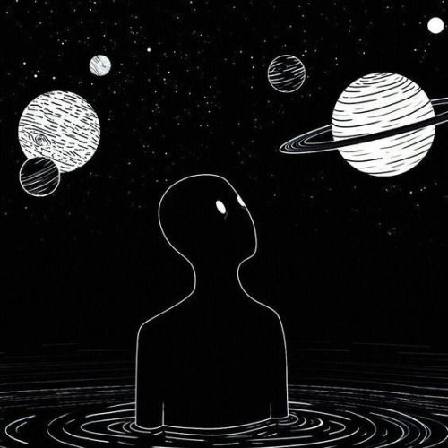 Galaxies And Planets In Black And White Is A Concept I Live For