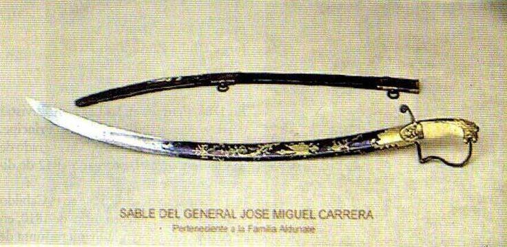 Sable del general José Miguel Carrera / Saber of the Chilean general José Miguel Carrera
