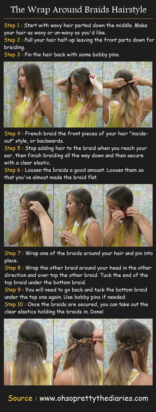 Wrap Around Braids Tut