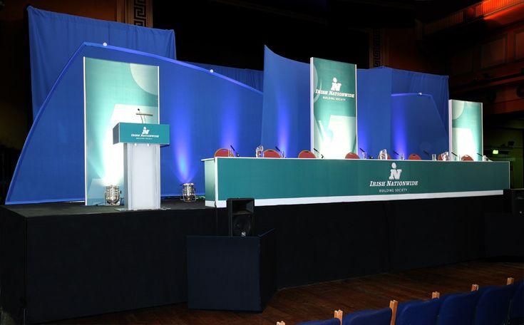 Conference Backdrop - Irish Nationwide EGM | stage