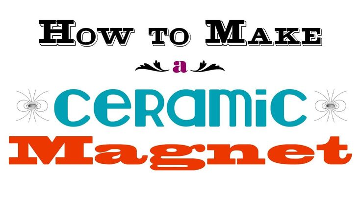 How to make a ceramic magnet with a button maker