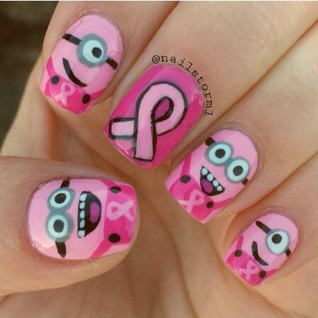 Breast cancer awareness minion nails by - 11 Best Nail Images On Pinterest Nail Art, Nail Art Ideas And