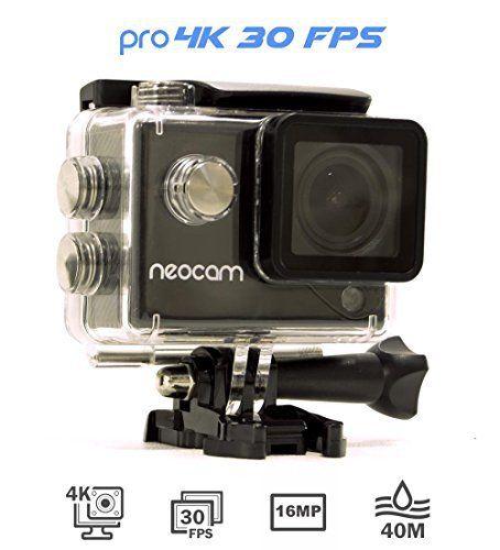 [Nouveau] NEOCAM PRO – Caméra de sport 4K 30 FPS – Photo 16 MP – Ultra Haute définition – Marque Française – Écran LCD 2 pouces – Caisson…