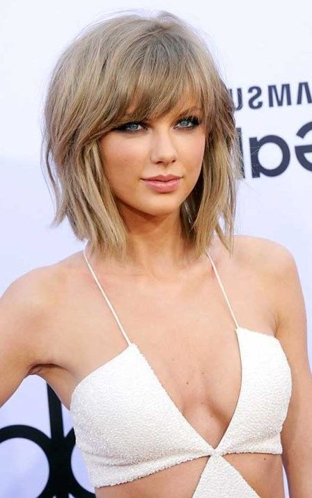 2017 Powerful Women Hairstyles Cute Hairstyles With Long Side Bangs For Short Straight And Fine Hair With Highlight