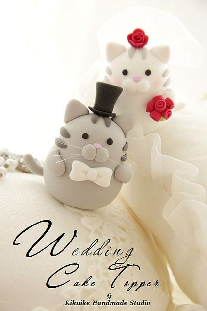 Wedding Cake Topper-love cat! Love it!!!
