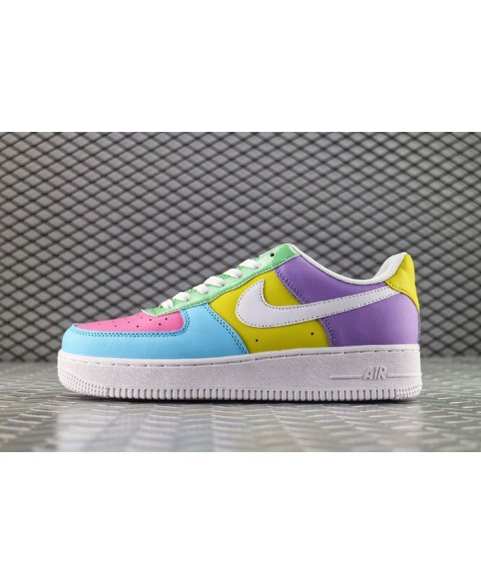 lowest price 95885 b05e2 Latest Nike Air Force 1 Low Candy White Blue Yellow Purple Pink Shoe ...