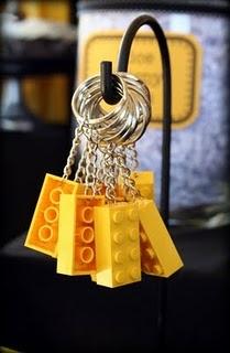 Lego keychain - arent these cute Deanna?