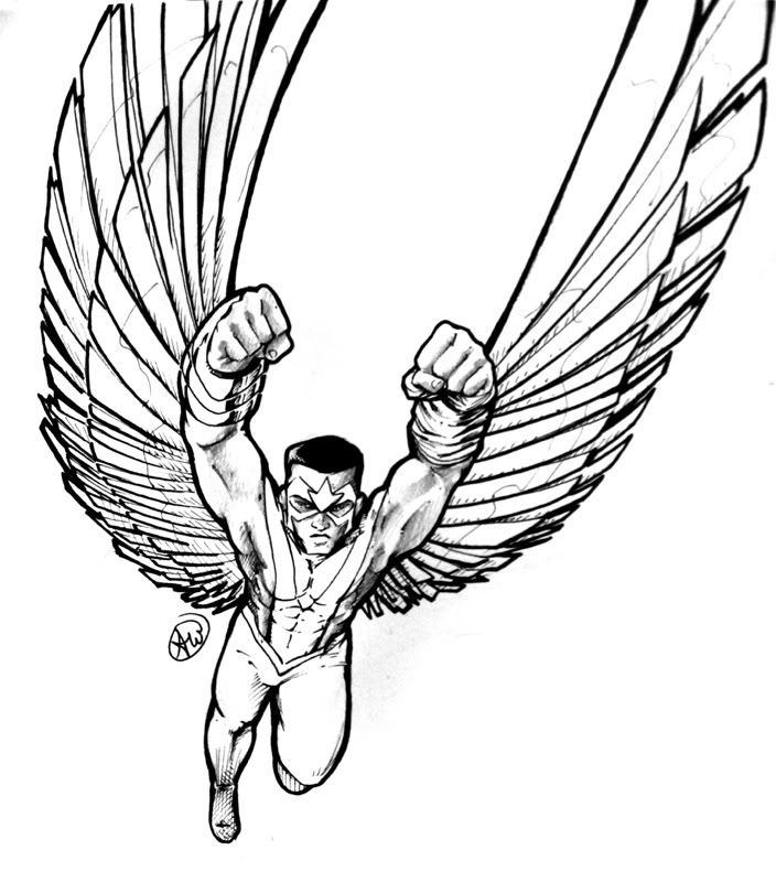 falcon avengers coloring pages - photo#5