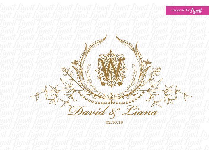 luxury wedding logo by Linvit on Etsy