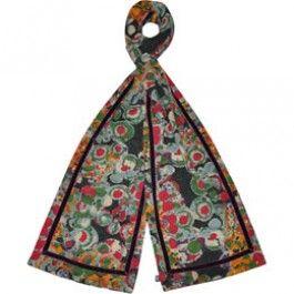 Plum flower jersey scarf