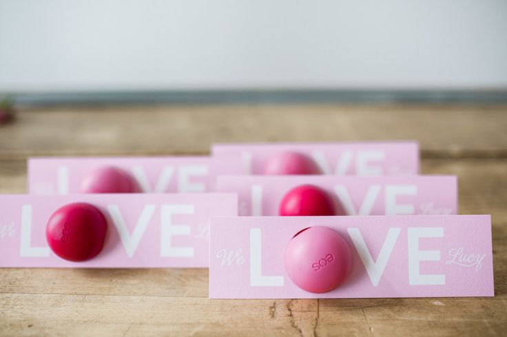 Adorable Eos favor cards: http://www.stylemepretty.com/living/2016/04/07/a-bachelor-winner-throws-a-baby-shower-and-totally-nails-it/