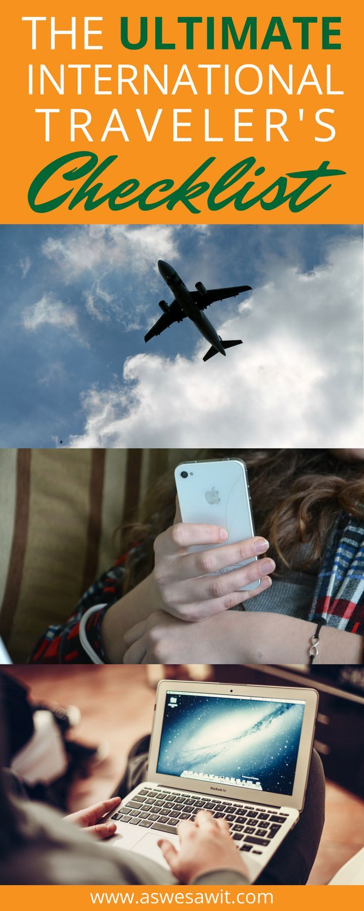 The Ultimate Checklist for helping you to plan your International travels. As you prepare for travel abroad, you may begin to feel overwhelmed by all the things to remember. Worry not, we're here to help. Click through to access our list of the essential things you'll need to do before heading to the airport. | As We Saw It #checklist #travelplanning #travelessentials