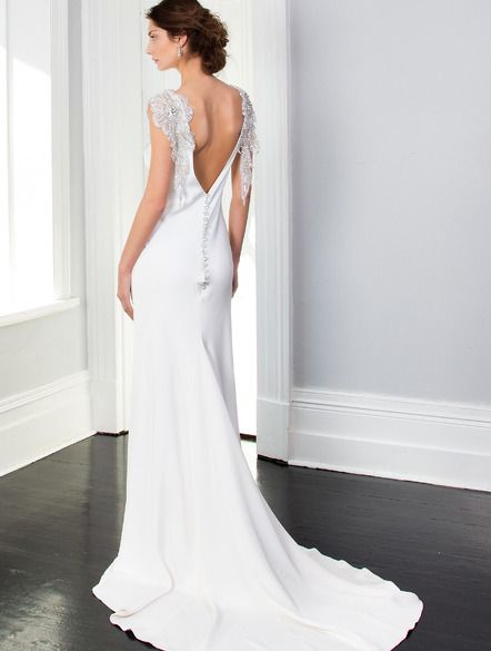 Back view of our Aimee gown