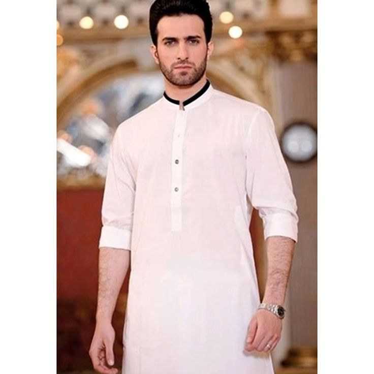 Oshi.pk is bringing a deal of Formal White Wash n Wear Kurta with Black