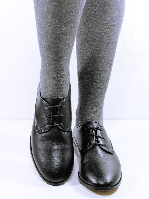 vegan vegetarian oxford lace up womens non leather shoe