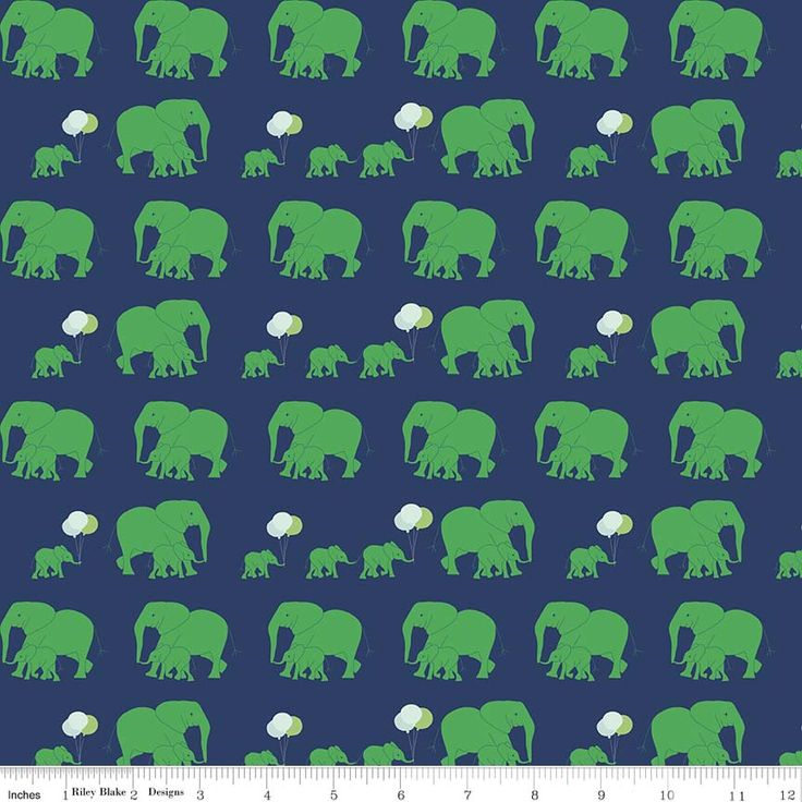 Safari Elephants Blue