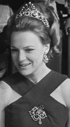 Ruby Peacock Parure on Princess Irene, aunt of current king Willem Alexander