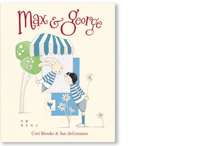 'Max and George' is written by Cori Brooke and illustrated by Sue de Gennaro, published by Penguin Books Australia, 2013.  This signed picture book is available at Books Illustrated. http://www.booksillustrated.com.au/bi_books_indiv.php?id=74&image_id=166