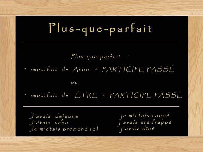 Plus-que-parfait - learn French,grammar,francais,french