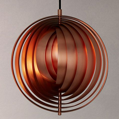 If you're a fan of midcentury designers how about this pendant light from John Lewis? The elegant Verpan Moon Pendant is made of real finished copper and gives off a soft light into the room. It's designed by none other than Verner Panton, designer of some of the most iconic furniture pieces of the twentieth century. Love it.