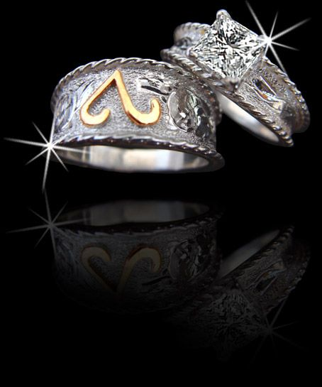 37 best rings images on Pinterest Western engagement rings