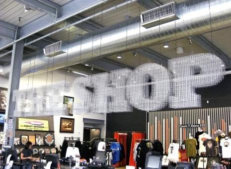 Harley-Davidson Museum, The Shop Signage