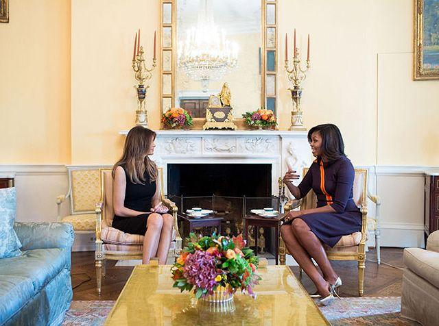 Мелания Трамп и Мишель Обама