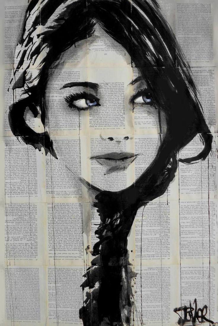 "Saatchi Art Artist Loui Jover; Drawing, ""baby blue"" #art"