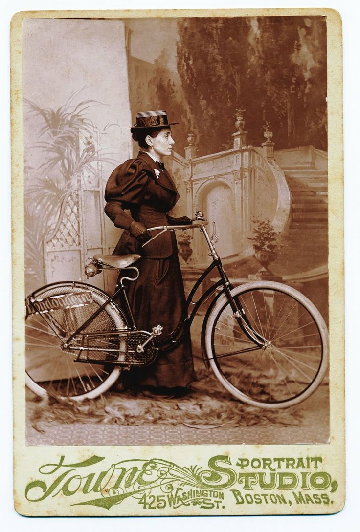 """""""This photography shows Annie Londonderry. She became one of the most celebrated women of the 1890s. Her amazing trip was reportedly set in motion by a wager that required Annie not only to circle the earth by bicycle in 15 months, but also to earn 5,000 dollarsen route as well. This was no mere test of a woman's physical endurance and mental fortitude; it was a test of a woman's ability to fend for herself in the world."""""""