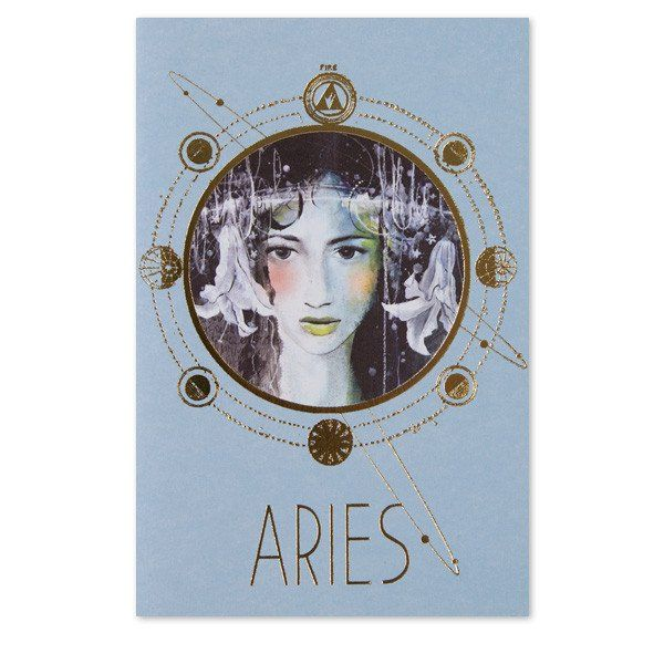 Celebrate your favorite 'Ram' with this gold foil folded card. Includes Zodiac sign muse on the front, sign details, gold envelope and blank interior.