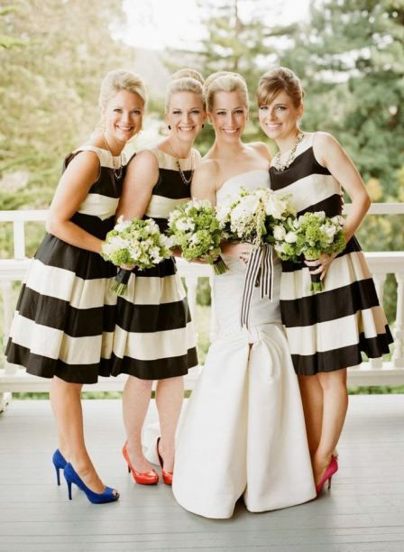 Stribede brudepigekjoler / Striped bridesmaid dresses