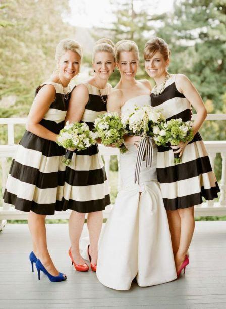 Stribede brudepigekjoler / Striped bridesmaid dresses