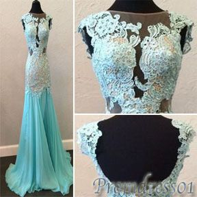 #promdress01 prom 2015 cute round neck light blue chiffon long evening dress for teens, bridesmaid dress, ball gown #promdress -> www.promdress01.c... #coniefox #2016prom