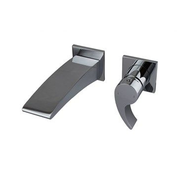 fluid Sublime - Single Lever Wall Mount Lavatory Faucet Trim Set | Free Shipping