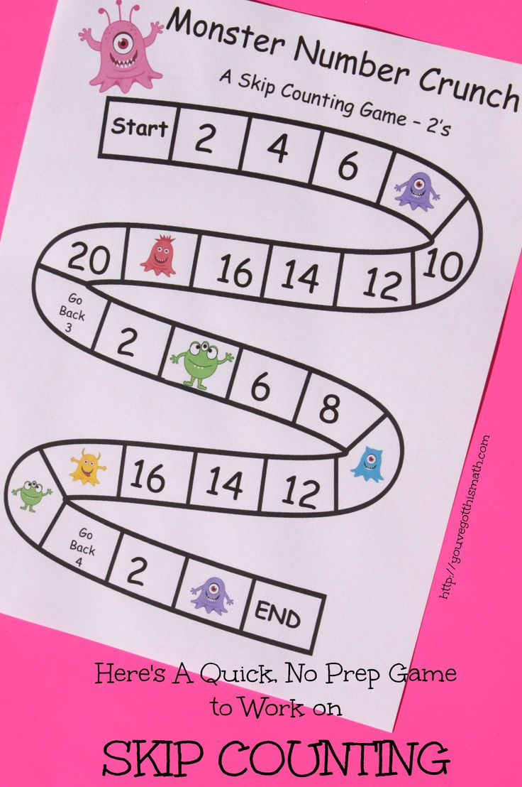 If your child needs more work on skip counting, these are quick, no prep games that work on this skill. There are three game boards for number 2 - 9. Free sample.