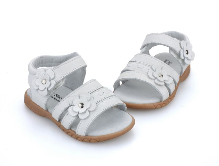 Girls sandals genuine leather white pink red open toe flowers summer girls shoes kids shoes wide chaussure zapato menina