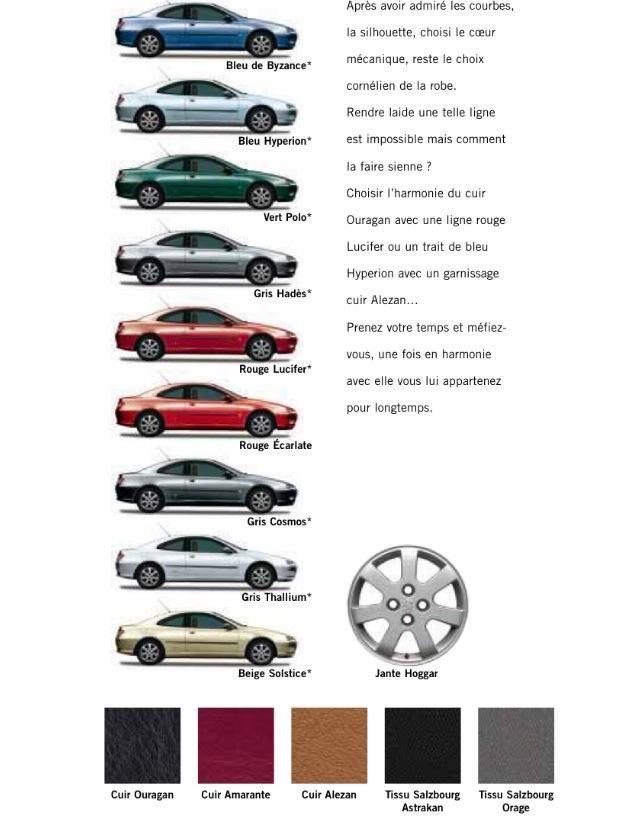 406 Coupe 2003 brochure.
