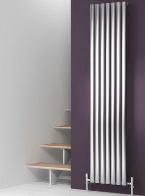satin chrome vertical radiators - Google Search
