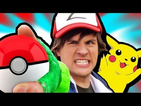 SMOSH - Pokemon 1  Oh. My. God. This is the funniest thing ever. ...if you were a pokemon freak like me.