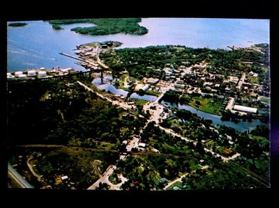 Aerial View of Parry Sound Ontario Canada Unused Postcard | eBay