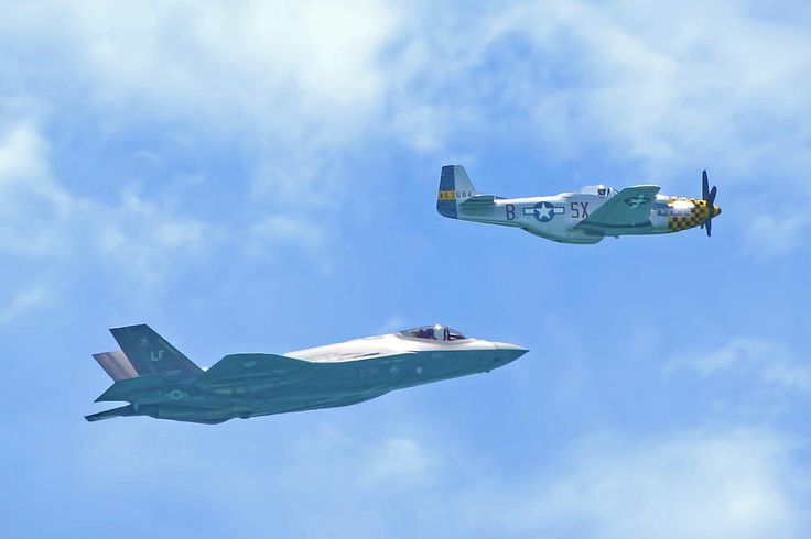 P-51 Mustang And F-35 Joint Strike Fighter Photograph by Mark Andrew Thomas