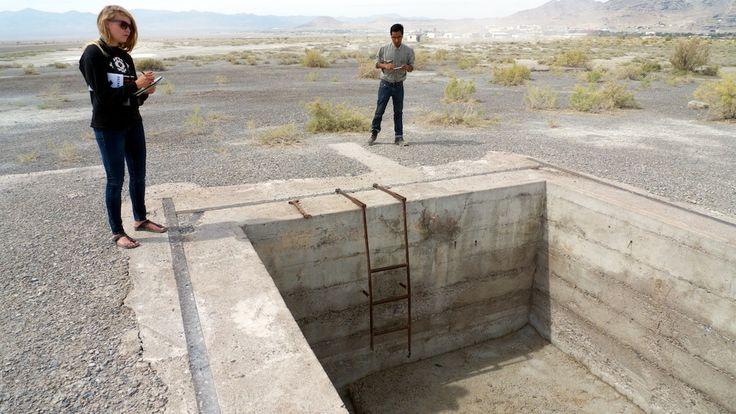 Test atomic bomb loading pit. Wendover, Utah.