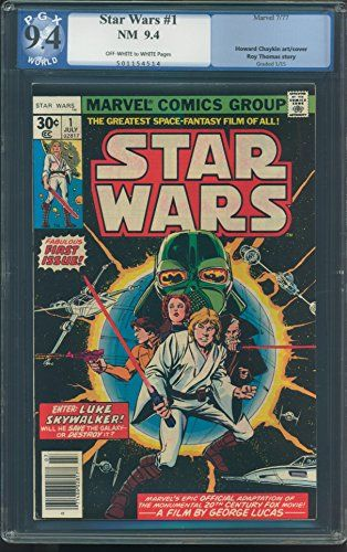 MARVEL COMICS STAR WARS VOL 1 # 1 PGX-GRADED 9.4 NEAR MINT OFF WHITE TO WHITE PAGES JULY 1977 INVENTORY # 15015 @ niftywarehouse.com