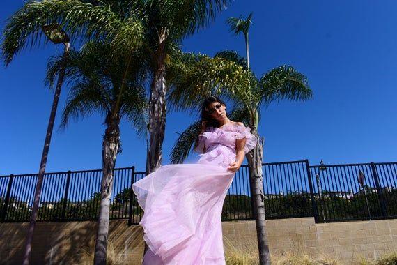 Bariano Womens Off-The-Shoulder Cascade Ruffle Evening Dress Gown BHFO 1890