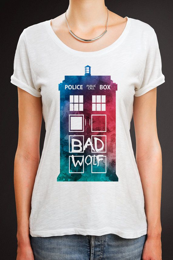 Doctor Who Shirt Doctor Who Tshirt Tardis Shirt Dr by quoteshirt