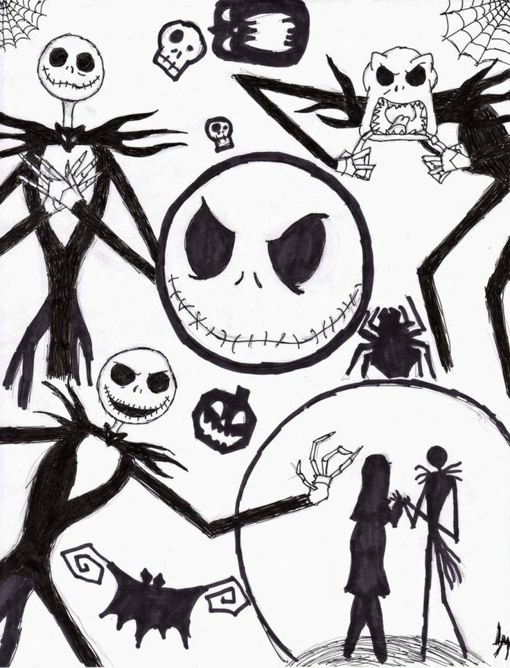 Gallery For gt Nightmare Before Christmas Characters Drawings