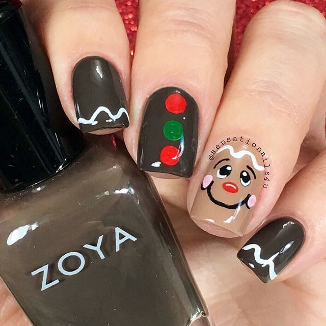Hand Painted Christmas Nail Art: 149 Best Images About Christmas Nail Art On Pinterest