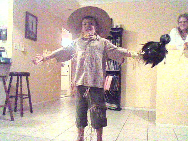scarecrow costume i made for blake