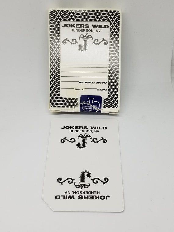 Fabulous Vintage Jokers Wild Casino Las Vegas Cards Henderson Etsy In 2020 Jokers Wild Casino Las Vegas Playing Card Deck