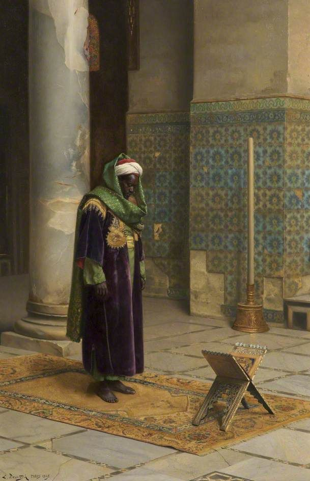 Moor at Prayer - Ludwig Deutsch - 1898 | Art: Orientalism ...
